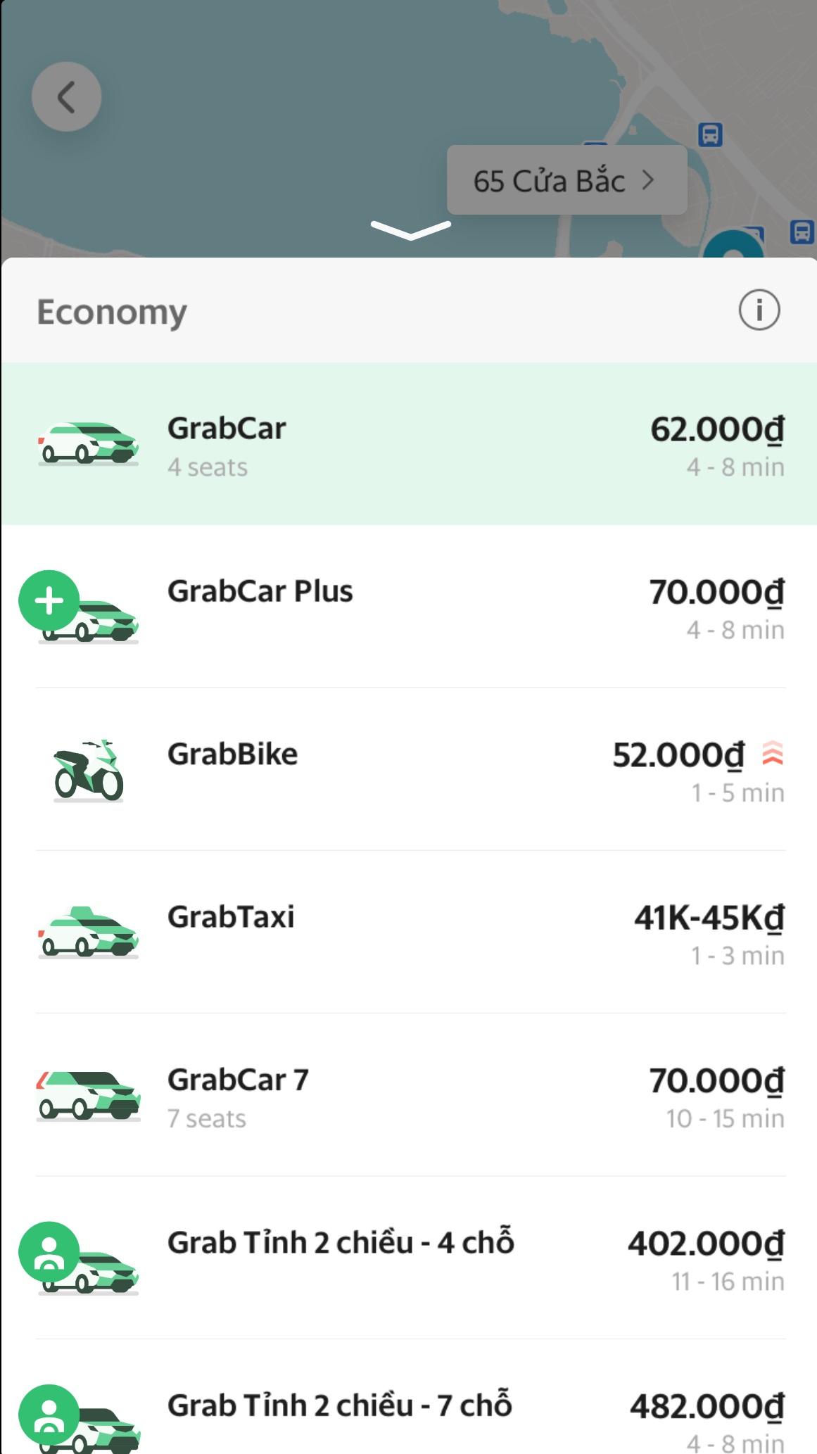 Grab_タクシー_車種